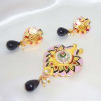 Pretty meenakari pendant set-KPD025