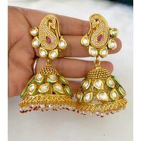 Gorgeous kundan festive jhumkis - KEG123