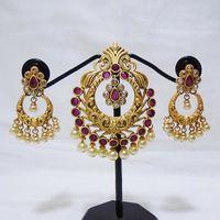 Queen style pendant set for women - KPD034