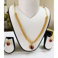 Gold and Ruby Pendant set - PD094