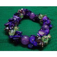 Purple tone Stretchable bracelet-MB019