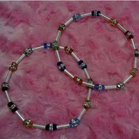 Smart stretchable anklet in Silver-AK001
