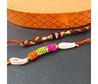 Giftacrossindia Best Beads Two Rakhis Set For Brother