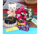 Giftacrossindia Roses With Cake Hamper For Mummy