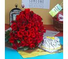Giftacrossindia Vanilla Cake With Red Roses Bouquet For Mom