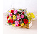 Giftacrossindia Garden Fresh Twenty Colorful Roses Bunch (GAIMPHD0033)
