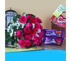 Giftacrossindia Chocolates With Fresh Roses For Mothers Day