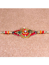 Giftacrossindia Colored Beads Design Rakhi