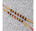 Giftacrossindia Set of Two Rudraksha Rakhi