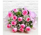 Giftacrossindia Bouquet of Dozen Pink Roses (GAIMPHD0003)