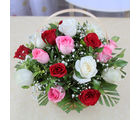 Giftacrossindia Basket of 15 Mix Color Roses (GAIMPHD0547)