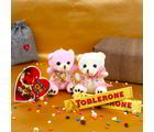 Giftacrossindia Love Season Combo Of Couple Teddy With Toblerone Chocolates And Greeting Card (GAICOUVAL2019127)