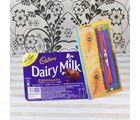 Giftacrossindia Cadbury Dairy Milk Chocolate With Two Rakhis