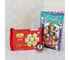 Giftacrossindia Diwali Greeting With Soan Papdi And Silver Coin