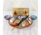 Giftacrossindia Diwali Pooja Thali With Kuber Lakshmi Note And Earthen Diya