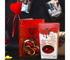 Giftacrossindia Chocolate Stuffed Dates And Wimmy Heart Shape Chocolate Love Combo (GAICOUVAL2019114)