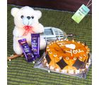 Giftacrossindia Teddy Bear With Cake And Chocolates For Mom