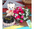 Giftacrossindia Fresh Roses Bouquet Hamper For Mothers Day