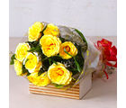 Giftacrossindia Bright Yellow Roses Bunch (GAIMPHD0068)