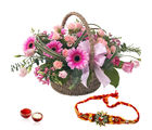 Giftacrossindia Exotic Basket Arrangement With Rakhi