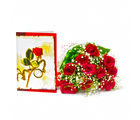Giftacrossindia Ten Red Roses Bouquet with Greeting Card (GAIMPHD0497)