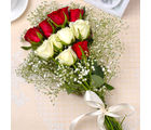 Giftacrossindia Red and Yellow Roses Bouquet (GAIMPHD0069)