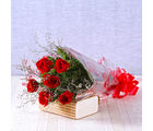 Giftacrossindia Six Romantic Red Roses Bouquet (GAIMPHD0019)