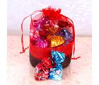 Giftacrossindia Truffle with Home Made Chocolate Basket Pouch (GAICOU0056)