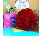 Giftacrossindia Special Mothers Day With Red Roses Bouquet And Celebration Pack