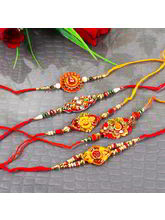 Giftacrossindia Combo Of Five Traditional Rakhi