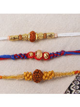 Giftacrossindia Pack Of Three Striking Rakhi Set