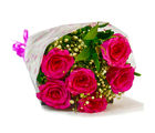 Giftacrossindia Six Stem of Fresh Pink Roses Bunch (GAIMPHD0053)