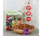 Giftacrossindia Shubh Labh Hanging With Almond And Greeting Card
