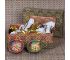 Giftacrossindia Earthen Diya With Miniature Toblerone Chocolate