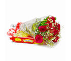 Giftacrossindia Ten Red Roses with Tasty Soan Papdi (GAIMPHD0461)