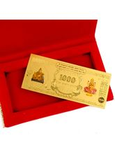 Giftacrossindia Shree Kuber Lakshmi Gold Plated Note (GAICOU0195)