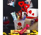 Giftacrossindia Assorted Chocolate Bars With In A Basket For Mom (GAICORMOT2017020)