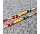 Giftacrossindia Fascinating Colorful Tiny Beads Rakhi Set