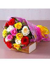 Giftacrossindia Fifteen Mix Roses Bouquet (GAIMPHD0077)