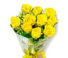 Giftacrossindia Ten Yellow Roses Hand Tied Bouquet (GAIMPHD0012)