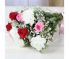Giftacrossindia Fresh Roses and Carnations Bouquet (GAIMPHD0085)