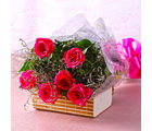 Giftacrossindia Bouquet of Six Pink Roses For your Loved Ones (GAIMPHD0022)