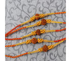 Giftacrossindia Special Rudraksha With Tiny Wooden Beads Rakhi