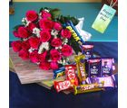Giftacrossindia Fresh Roses And Assorted Chocolates For Mothers Day