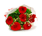 Giftacrossindia Hand Tied Bouquet of Six Red Roses (GAIMPHD0005)