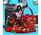 Giftacrossindia Merlin Rich Cream Toffees Love Gift Hamper (GAICOUVAL2019081)