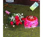 Giftacrossindia Six Red Roses Bouquet With Strawberry Cake