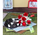 Giftacrossindia Roses Bouquet With Chocolate Cake On Mothers Day