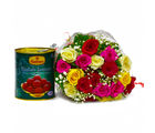 Giftacrossindia Twenty Mix Roses with Yummy Gulab Jamuns (GAIMPHD0433)