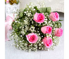 Giftacrossindia Hand Tied Bunch of Fresh Six Pink Roses (GAIMPHD0021)